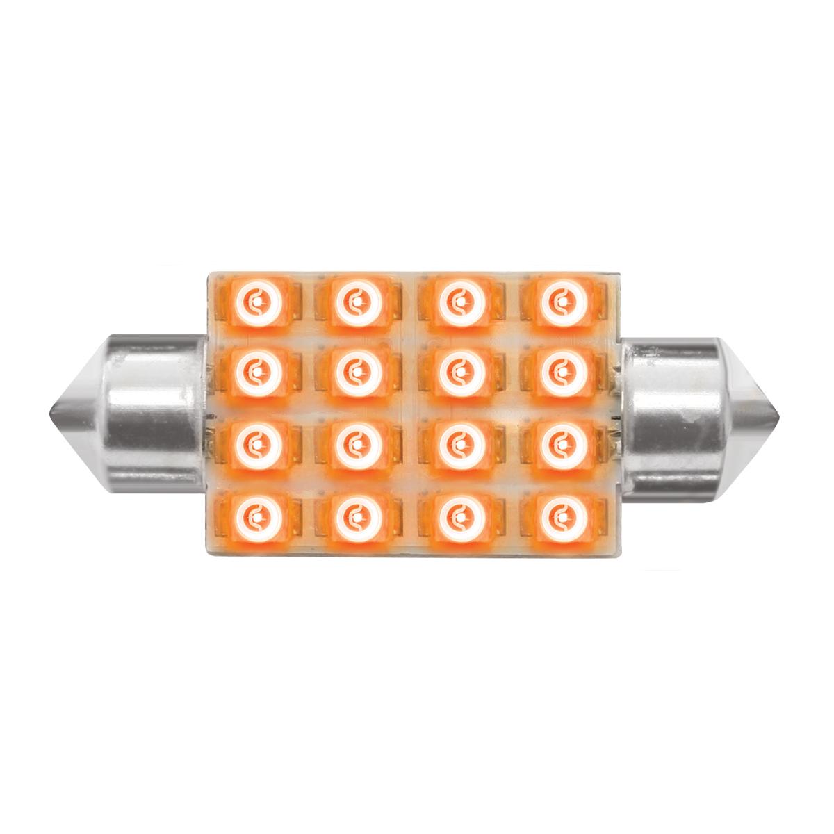 76100 Amber 211-2 Dome Type 16 LED Light Bulb