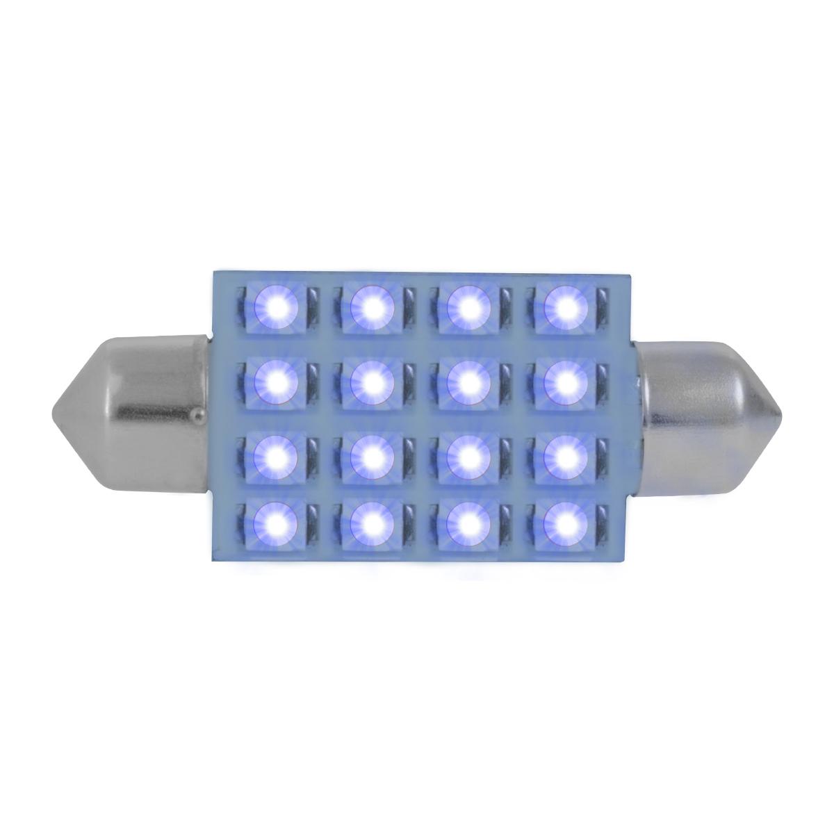 76101 Blue 211-2 Dome Type 16 LED Light Bulb
