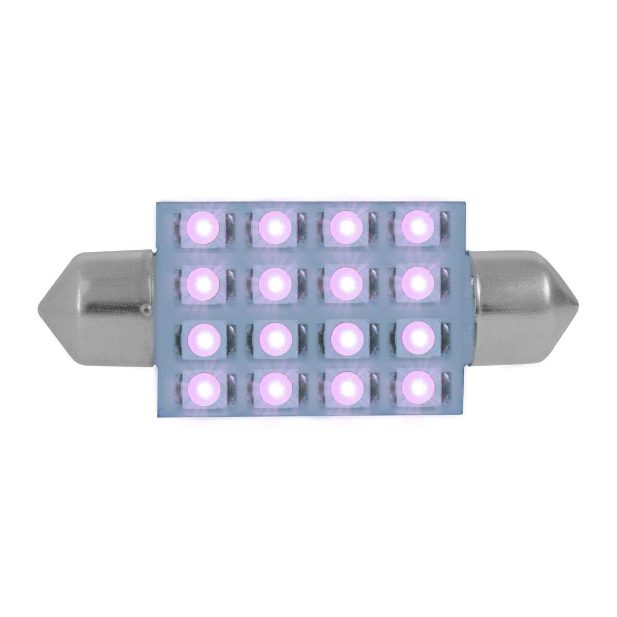 76105 Purple 211-2 Dome Type 16 LED Light Bulb