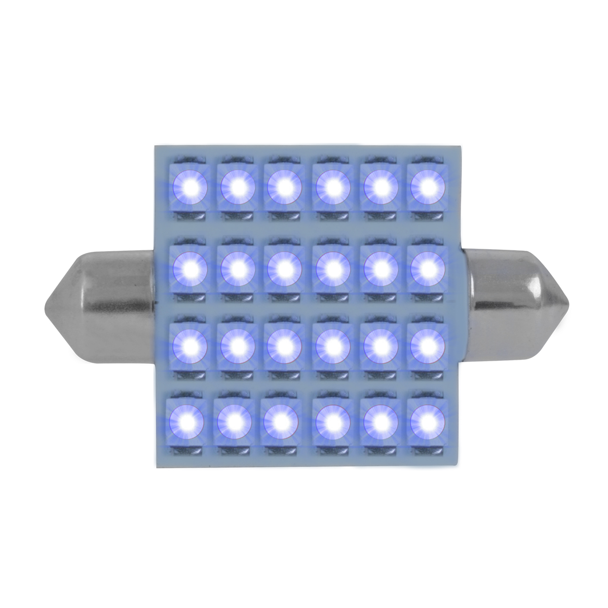 76111 Blue 211-2 Dome Type 24 LED Light Bulb