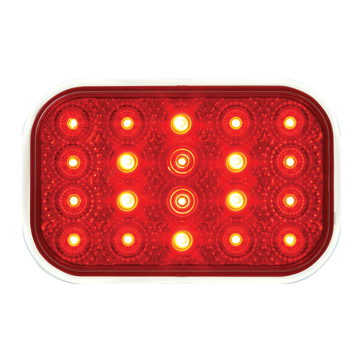 #77013 Rectangular Spyder LED Flat Red/Red Light
