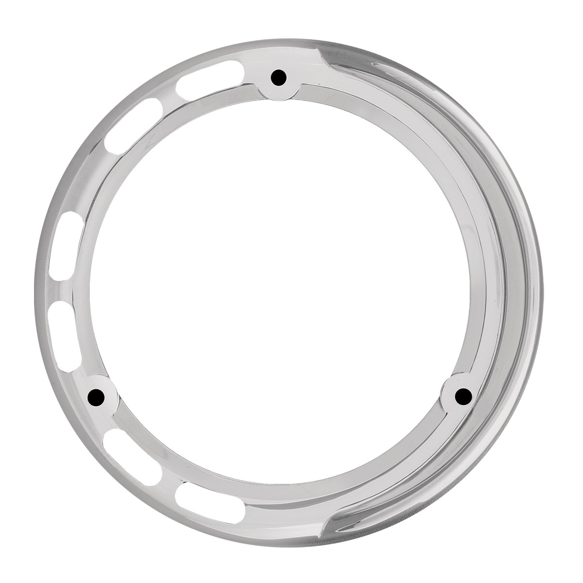 "78366 Chrome Plastic Bezel w/ Visor for 4"" Pearl LED Pedestal Lights"