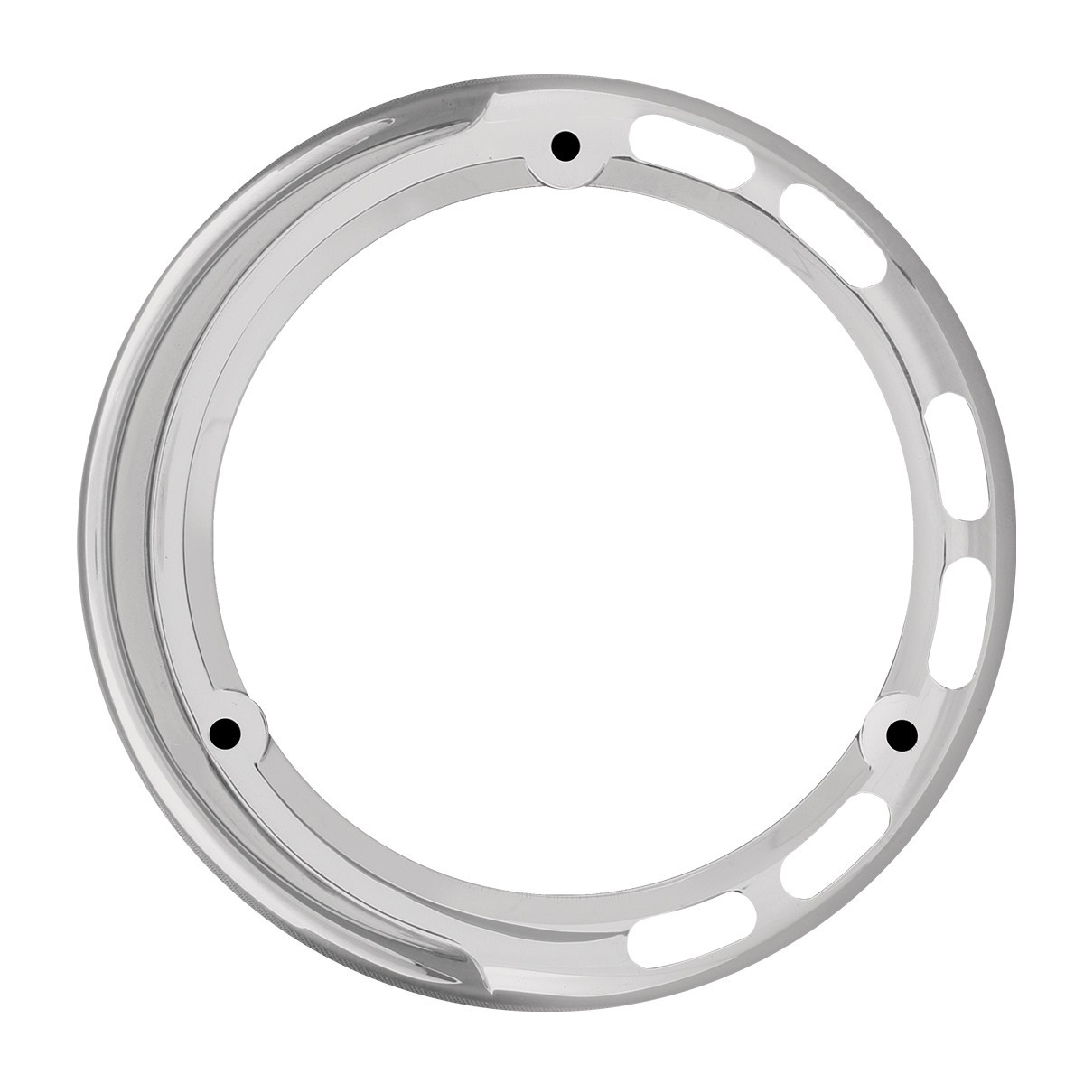 "78367 Chrome Plastic Bezel w/ Visor for 4"" Pearl LED Pedestal Lights"