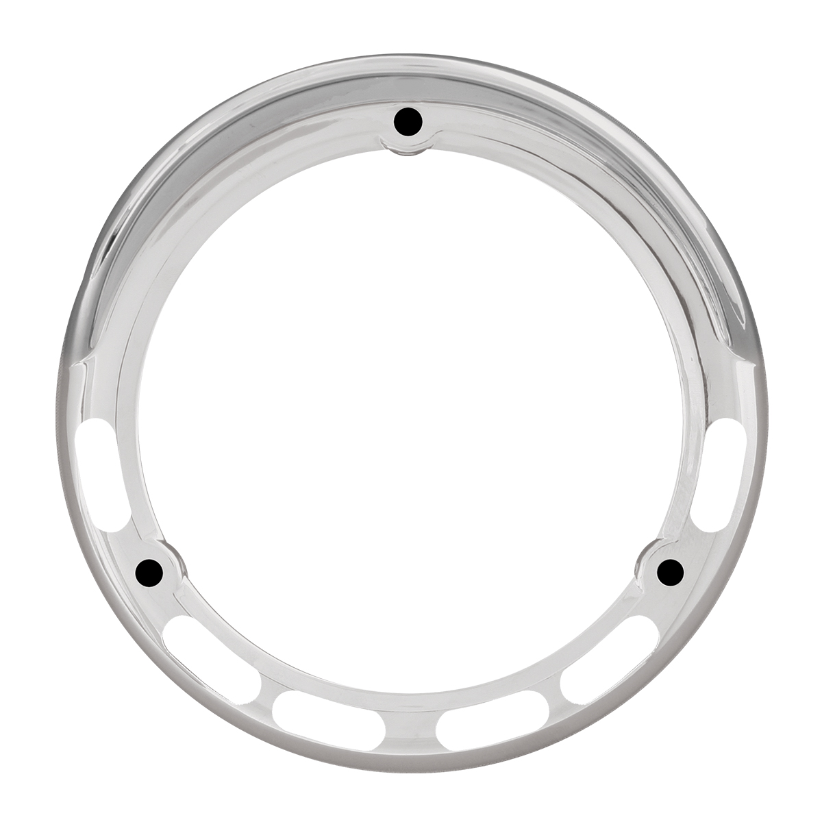 "78368 Chrome Plastic Bezel w/ Visor for 4"" Pearl LED Pedestal Lights"
