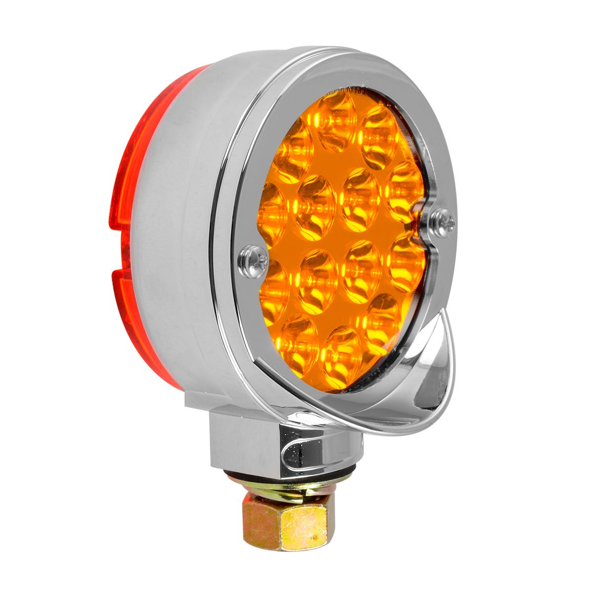 """78399 Chrome Plastic Bezel w/ Visor for 3"""" Round Pedestal Light"""
