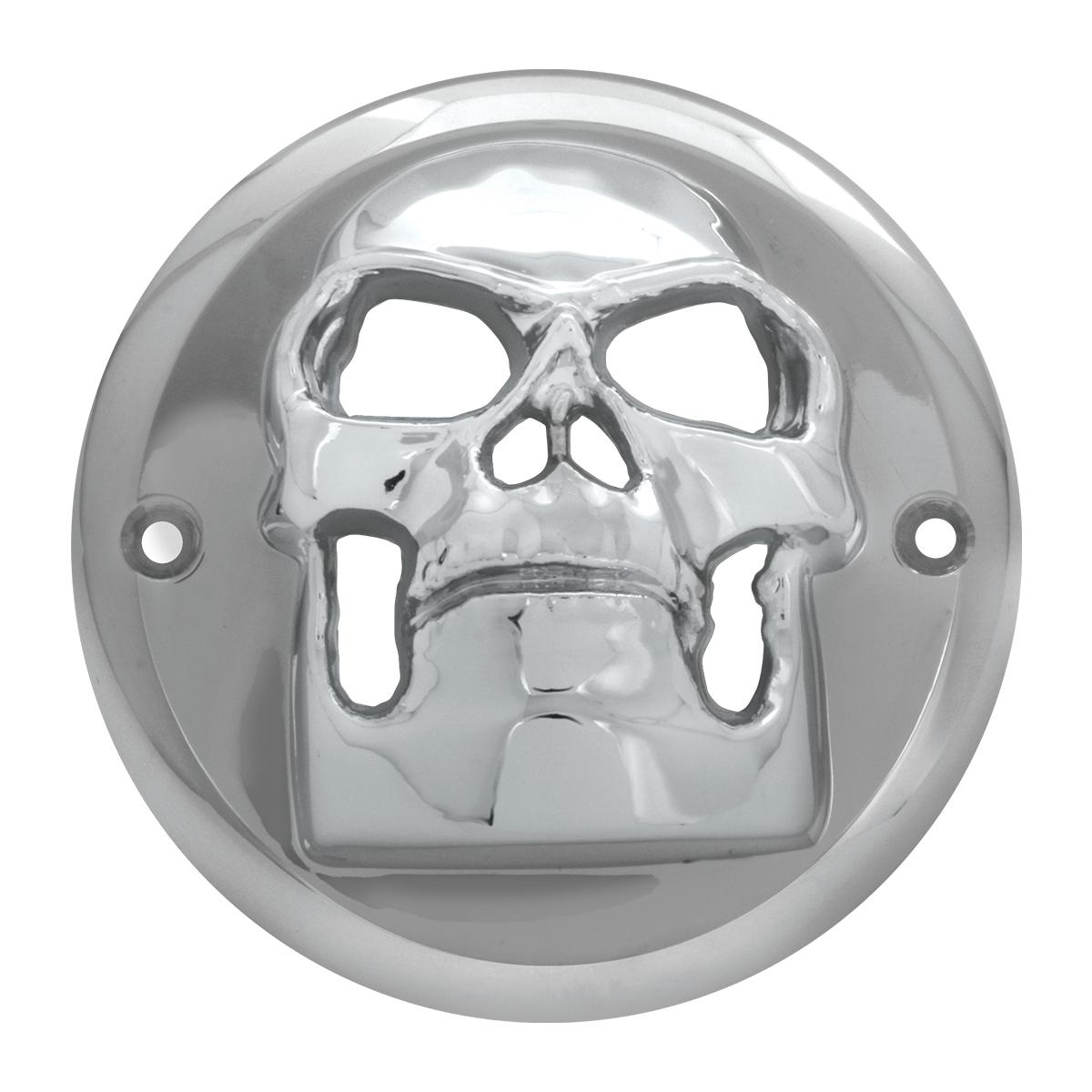 """78489 Chrome Plastic Skull Bezel for 2"""" Round Light"""