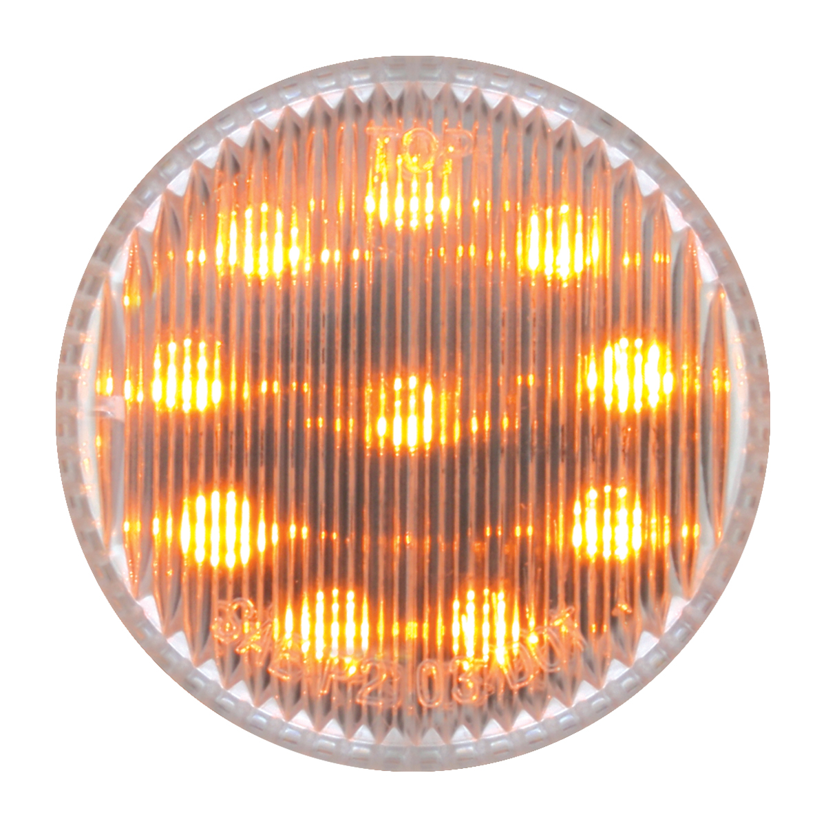 "79287 2"" Round Fleet LED Marker Light in Clear Lens"