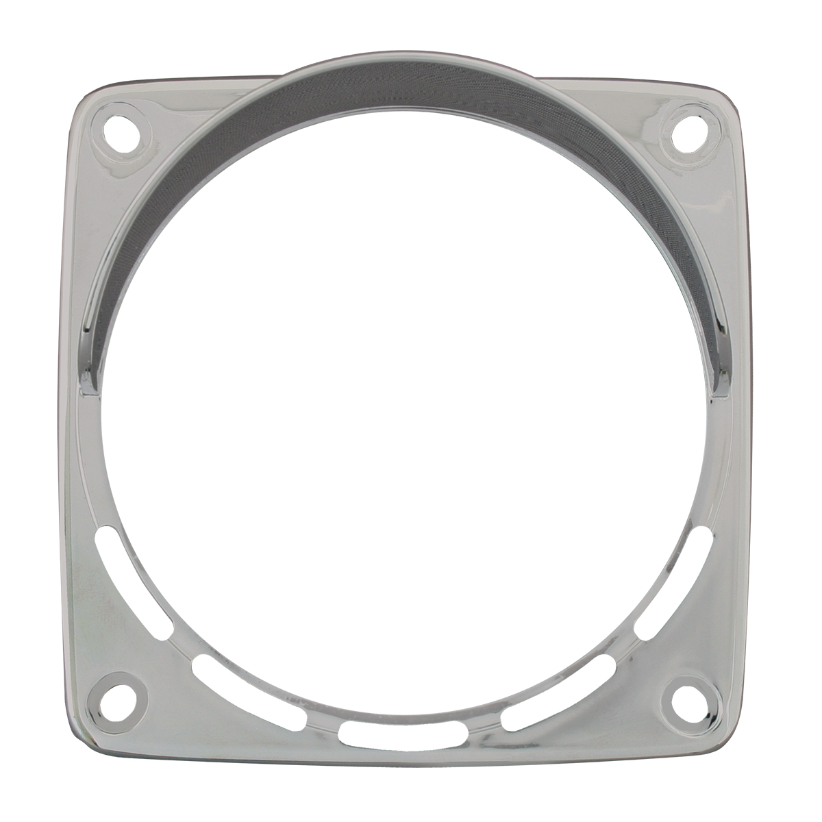 80358 Chrome Plastic Bezel with Visor for Square Double Face Pedestal Light