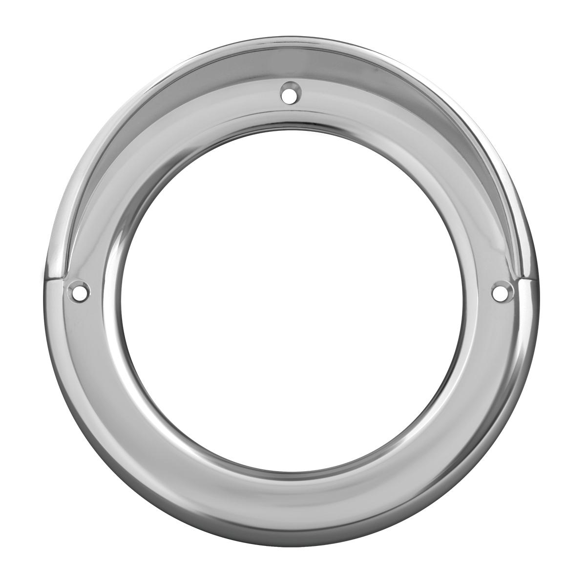 "80477 Chrome Plastic Grommet Cover w/ Visor for 4"" Round Light"