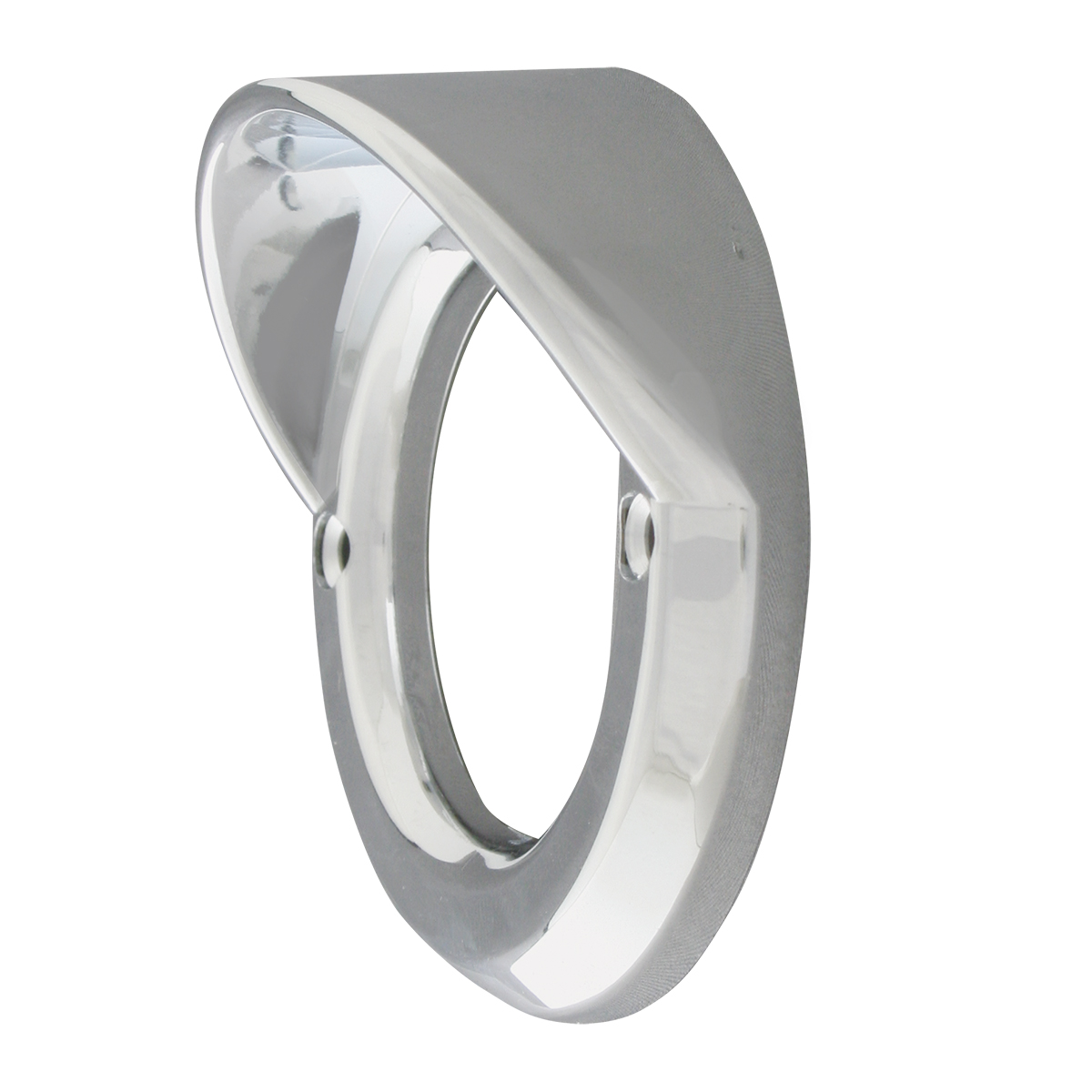 """80716 Chrome Plastic Grommet Cover w/ Visor for 2.5"""" Round Light"""