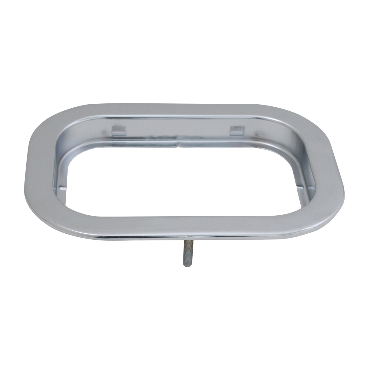 "80797 Chrome Flange Mount Bezel with Hidden Studs for 5.25"" Large Rectangular Light"