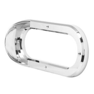 Grommet Cover w/ Visor in Vertical Style for 6.5″ Large Oval Light