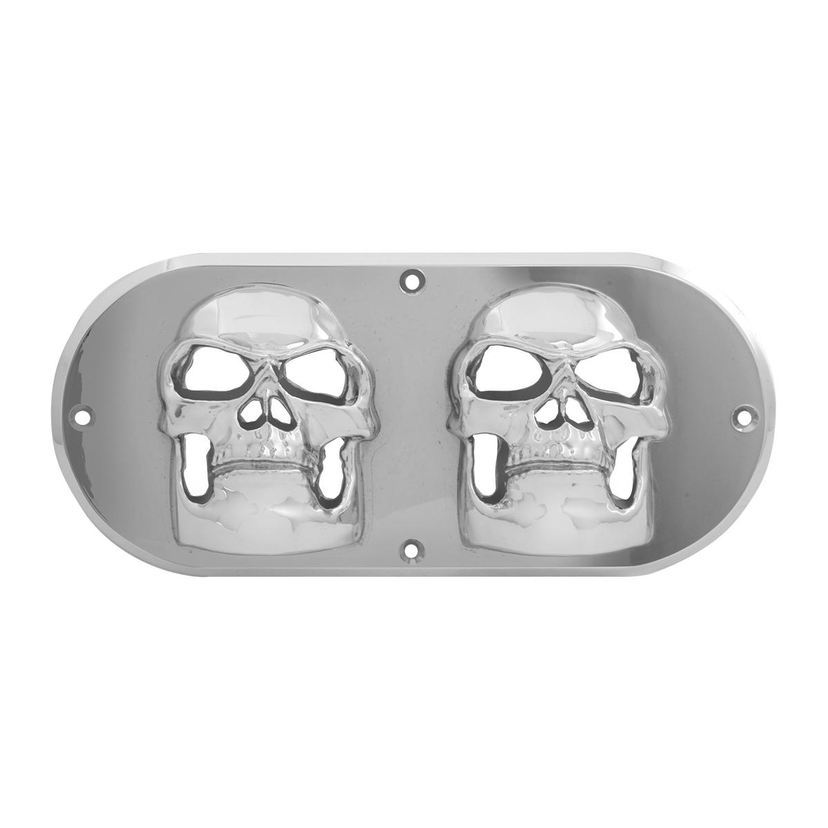 80809 Chrome Plastic Skull Bezel for Large Oval Light