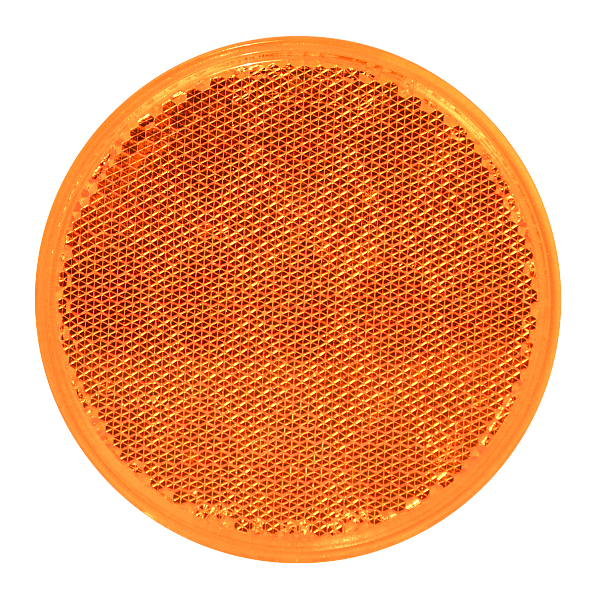 "80811 Amber 3"" Round Stick-On Reflector"