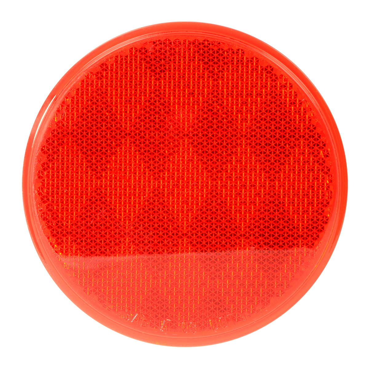 "80814 Red 3"" Round Stick-On Reflector"