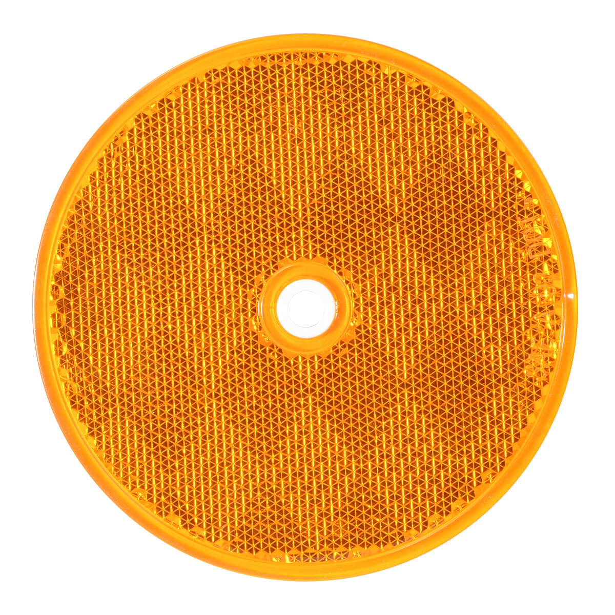"80821 Amber 3-1/4"" Round Reflector w/ Center Mounting Hole"