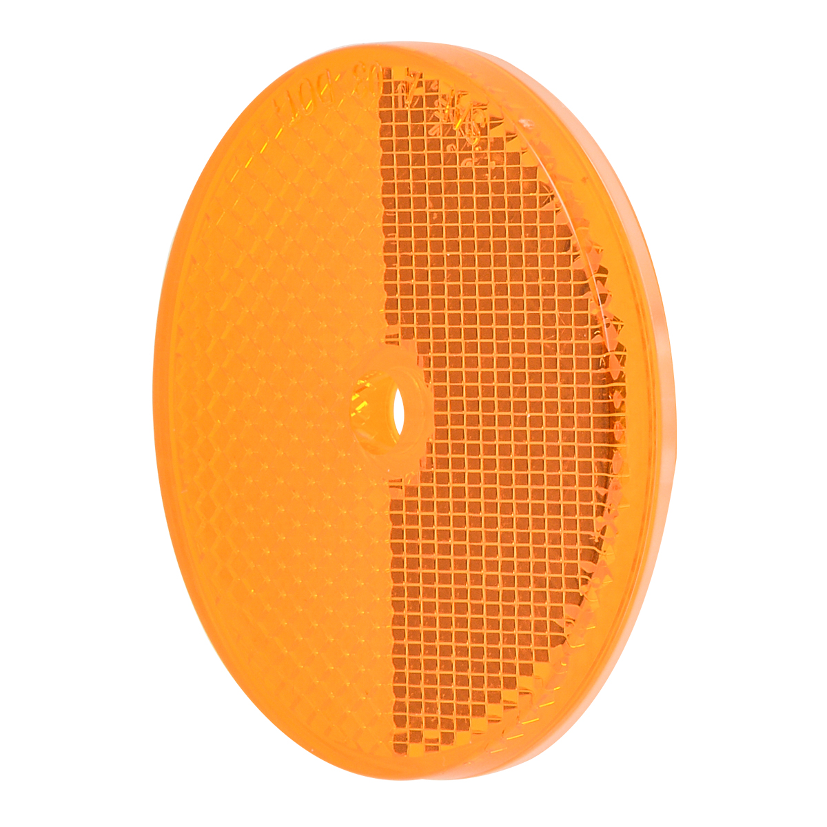 "80825 Amber 2-3/8"" Round Reflector w/ Center Mounting Hole"