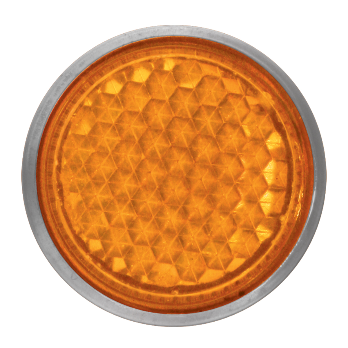 "Amber 5/8"" Round Screw Type Mini Reflector"