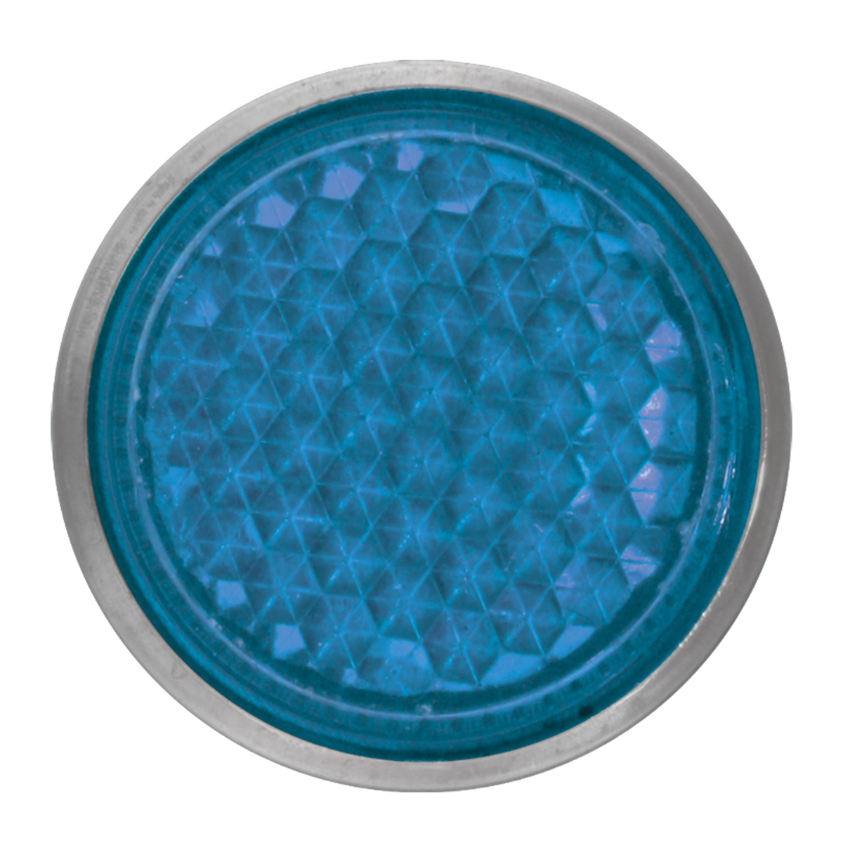 "Blue 5/8"" Round Screw Type Mini Reflector"