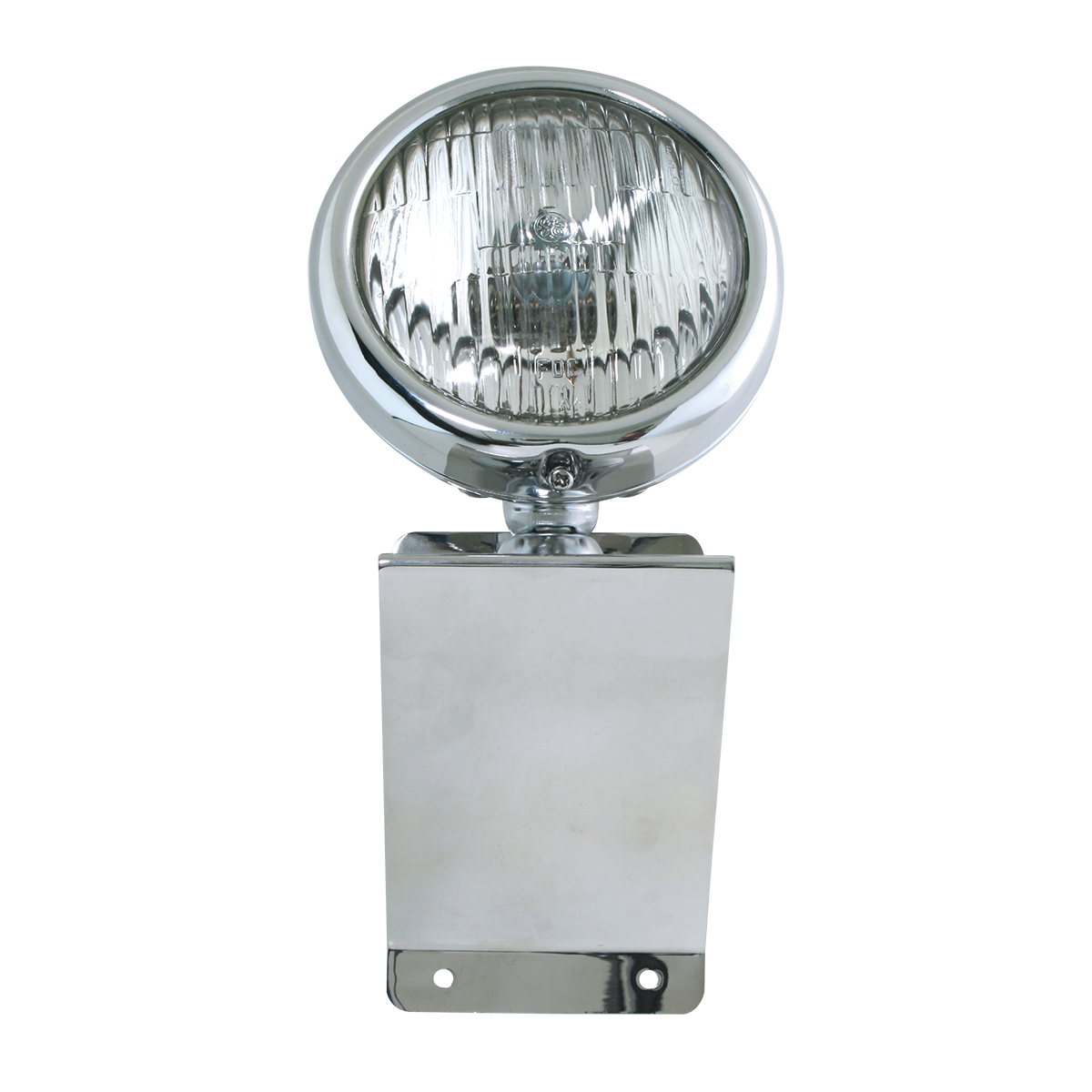 """#81754 Chrome Plated Steel Small """"Z"""" Shaped Light Bracket with 5"""" Clear Sealed Beam Light"""