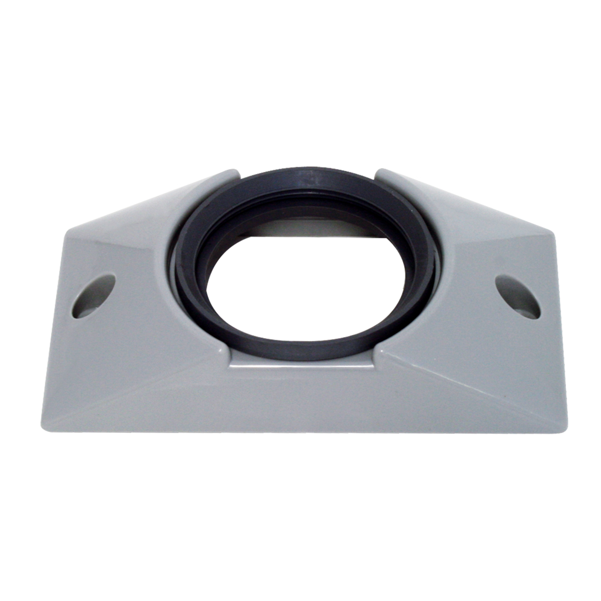 """82627 Gray Plastic Mounting Bracket with Grommet for 2-1/2"""" Round Light"""