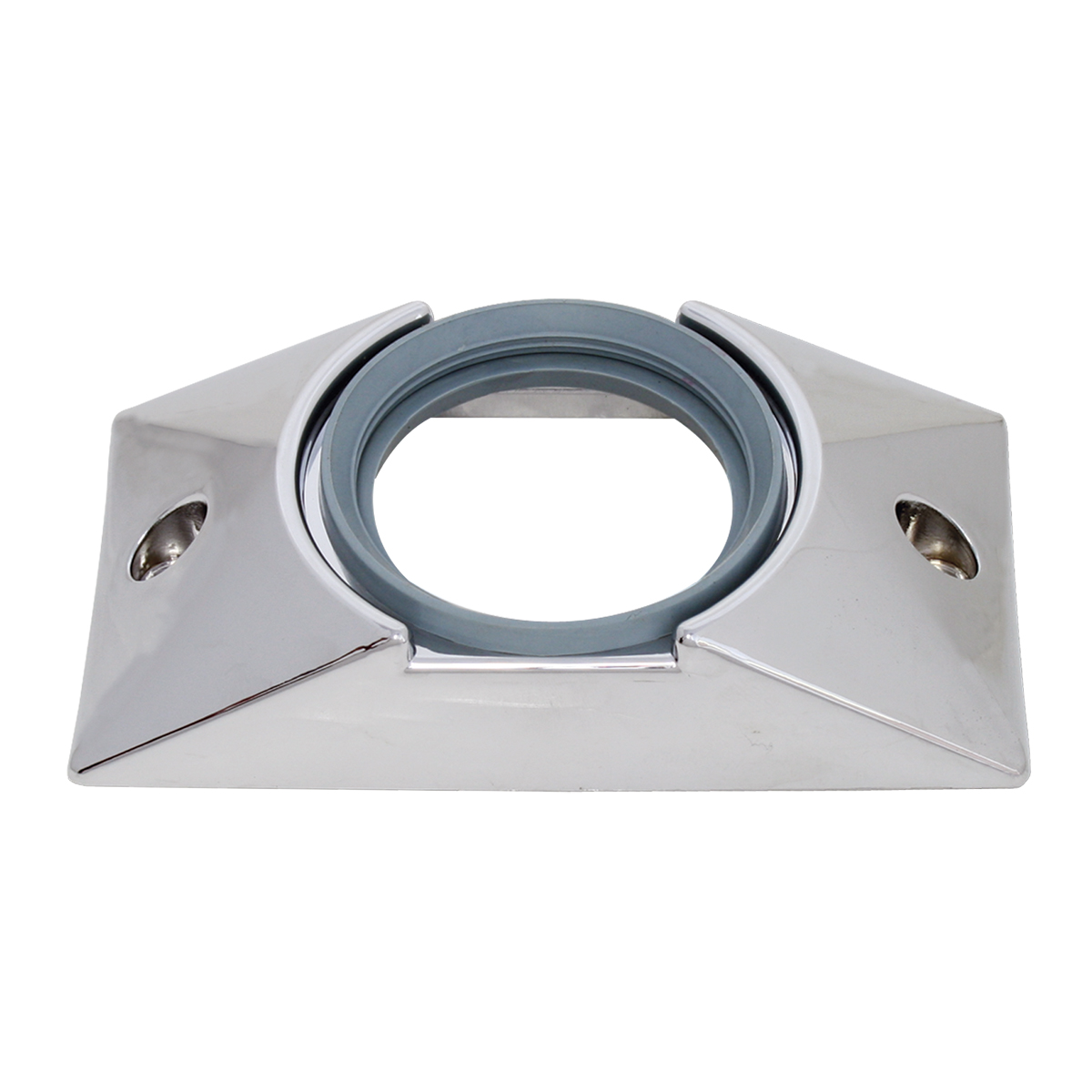 """82629 Chrome Plastic Mounting Bracket with Grommet for 2-1/2"""" Round Light"""