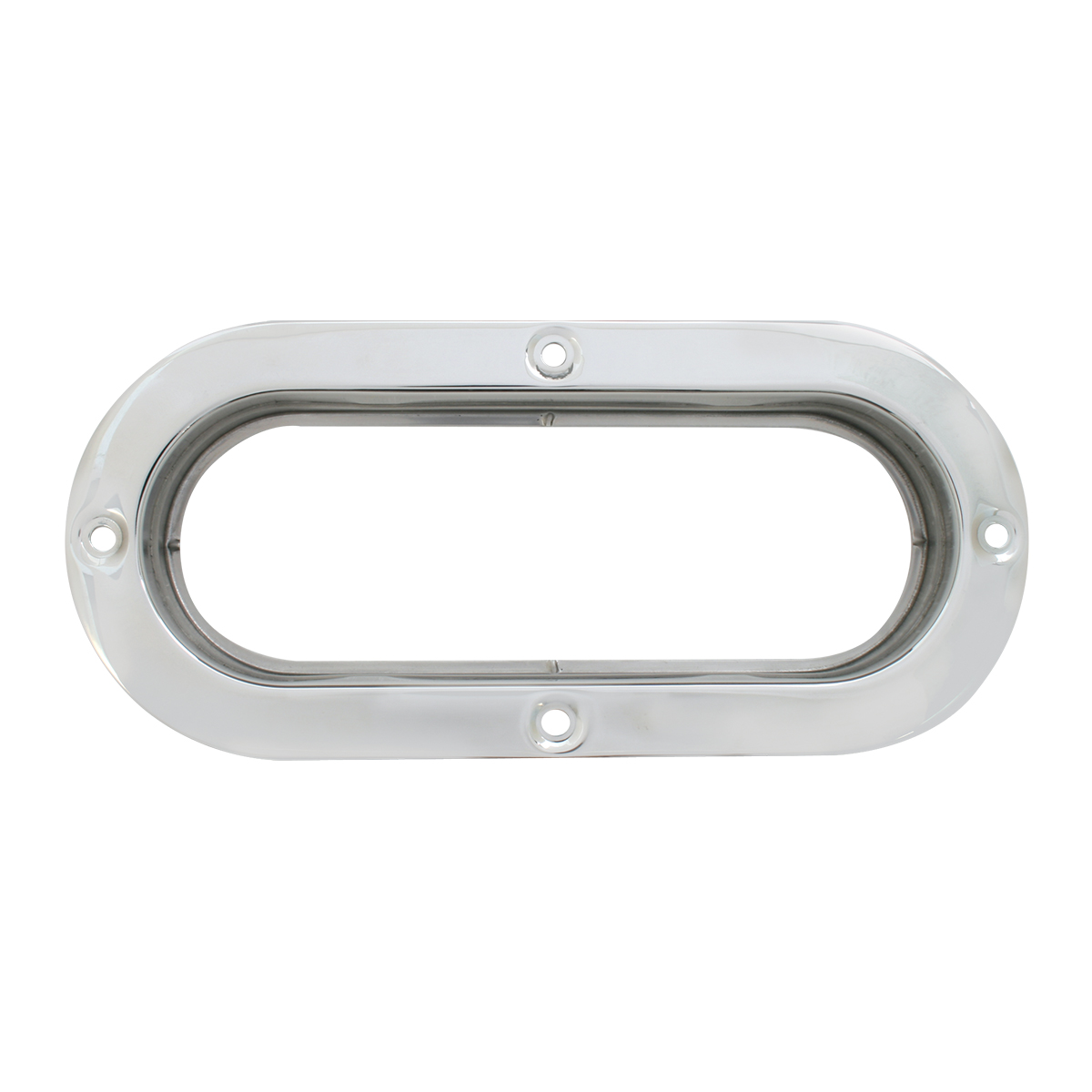 87146 Stainless Steel Flange Mount Bezel for Large Oval Light