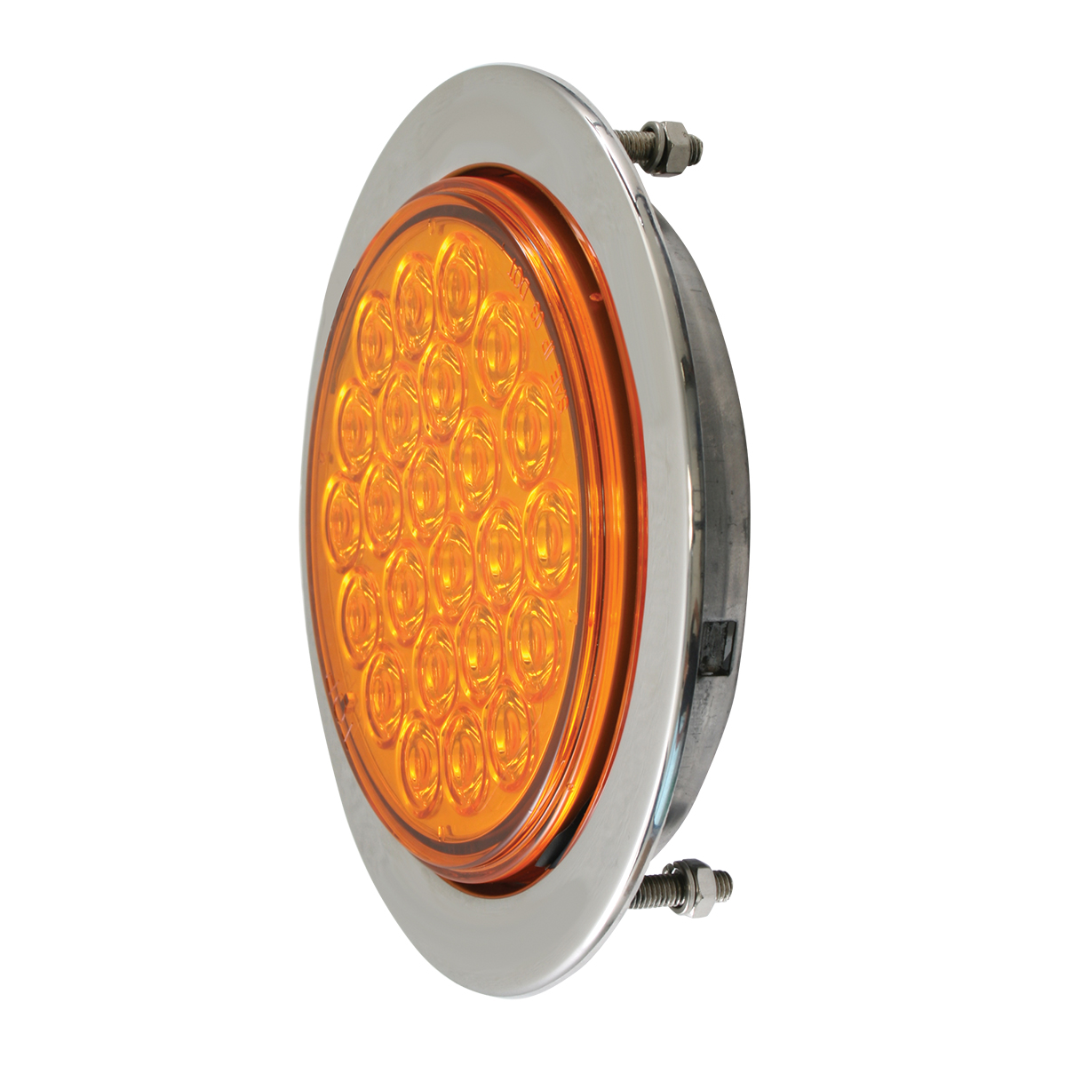 "Flange Mount Bezel with Hidden Studs for 4"" Round Light (Light Not Included)"