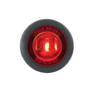 1″ Dia. Mini Push/Screw-in Wide Angle LED Marker Light w/ Grommet