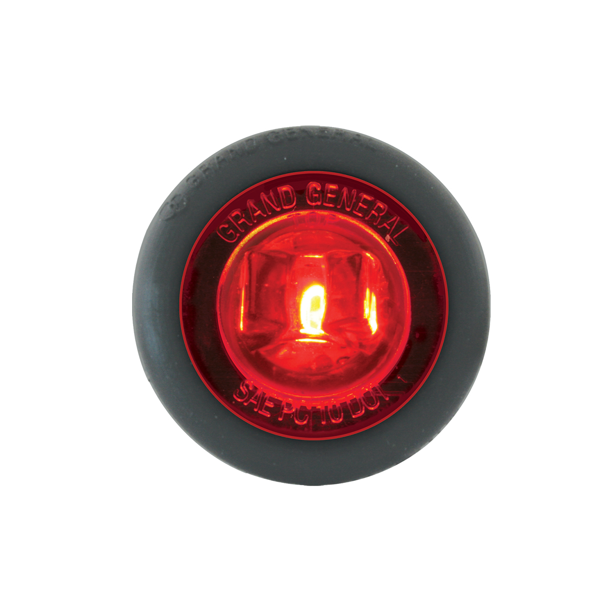 "87292 Red/Red 1"" Dia. Mini Push/Screw-in Wide Angle LED Marker Light w/ Grommet"
