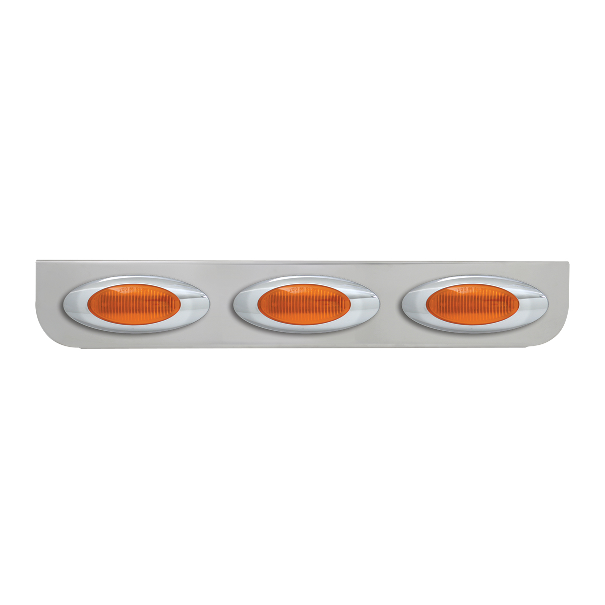 "#89060 Triple Stainless Steel ""L"" Shape Light Bracket with Plug-In Y2K Incandescent Lights"