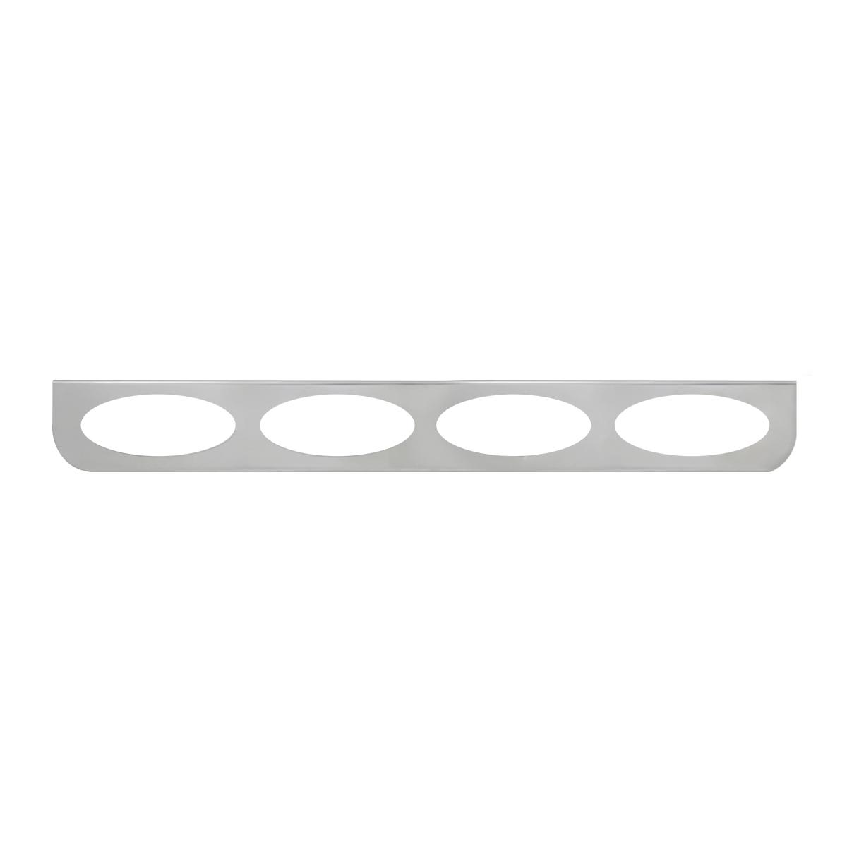 "#89079 Chrome Quadruple ""L"" Shape Light Bracket Only"
