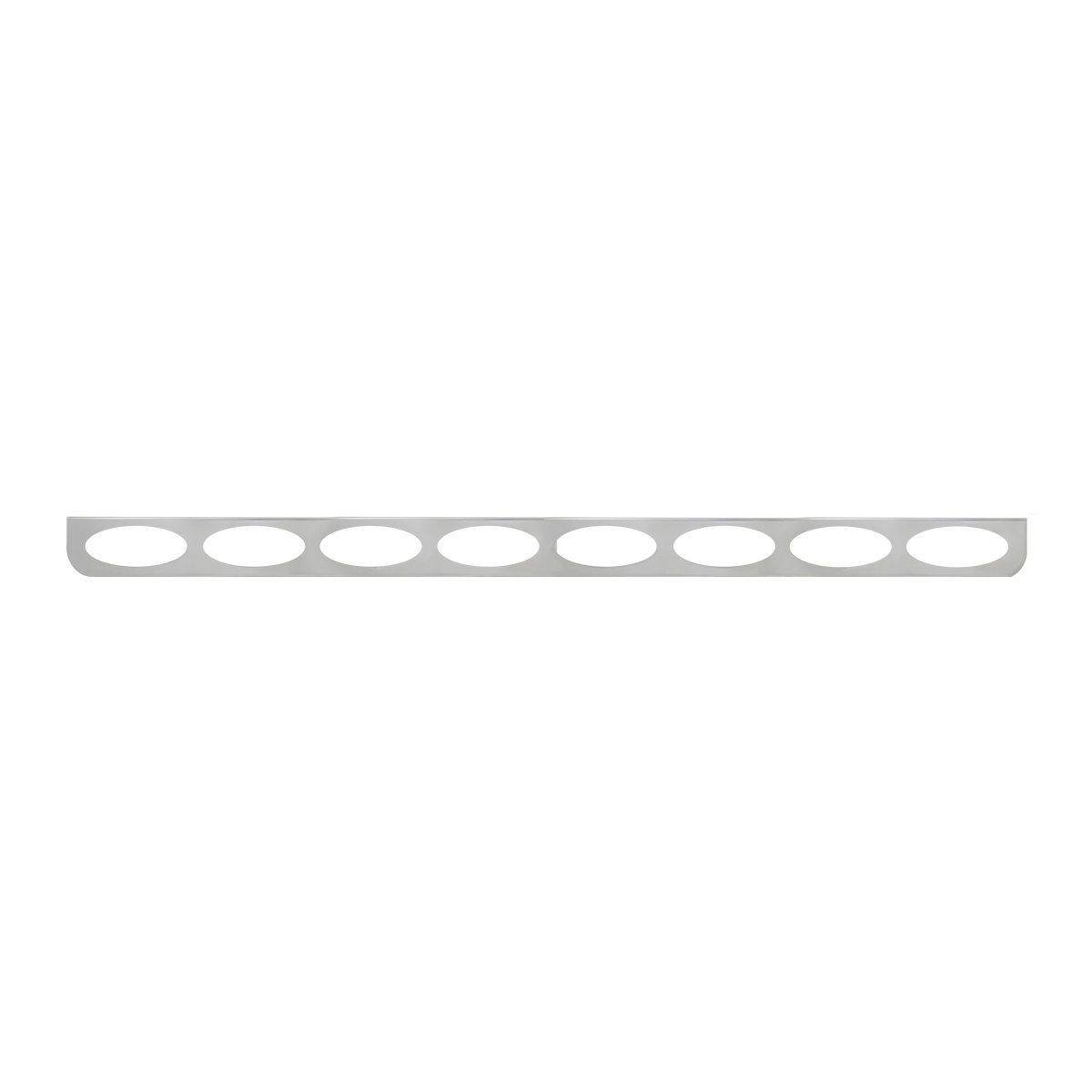 "#89099 8 Light Stainless Steel ""L"" Shape Light Bracket Only"