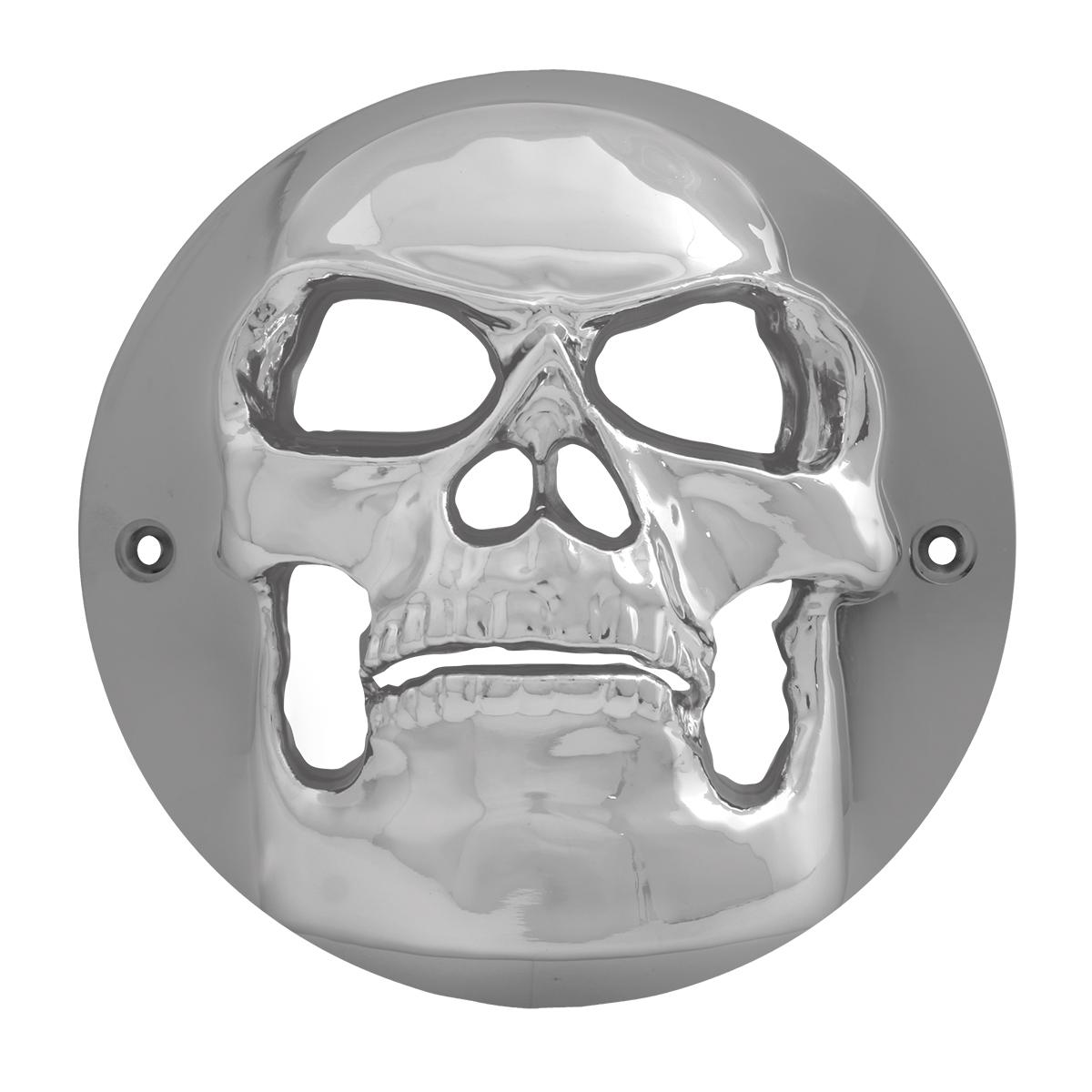 """90090 Chrome Plastic Skull Bezel for 4"""" Round Light"""