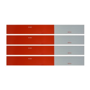 DOT-C2 Conspicuity Tape in Red & White 18″ Strips