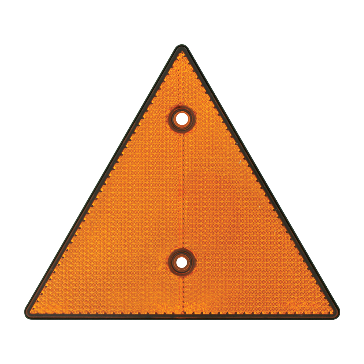 """99550 Amber 6"""" Triangle Warning Reflector w/ 2 Mounting Holes"""