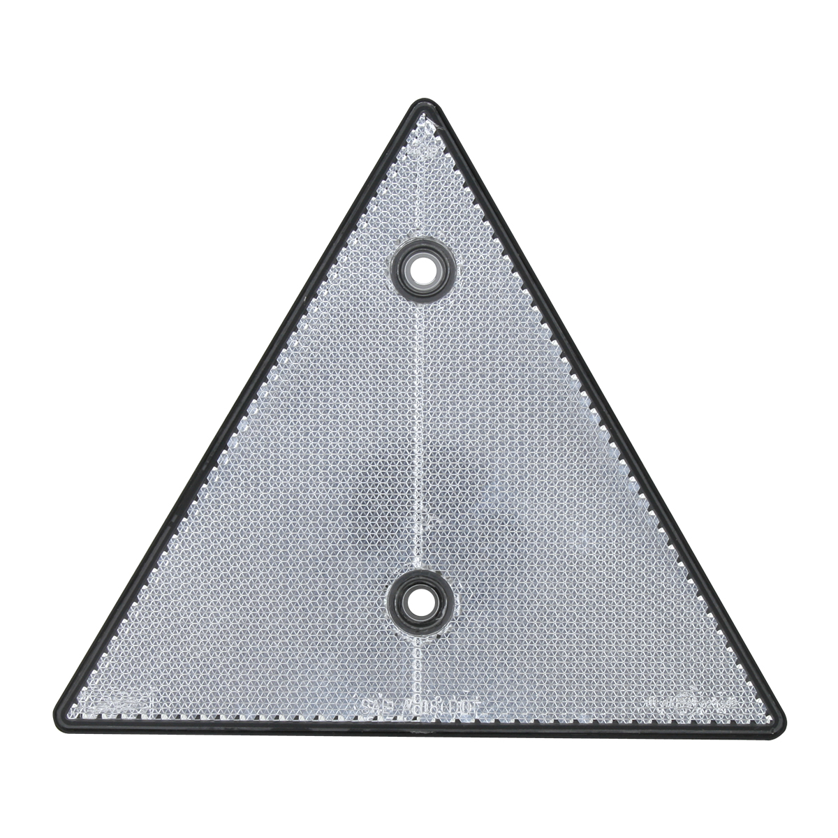 """99552 White 6"""" Triangle Warning Reflector w/ 2 Mounting Holes"""