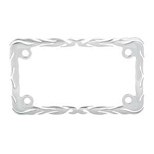Motorcycle Flame License Plate Frame