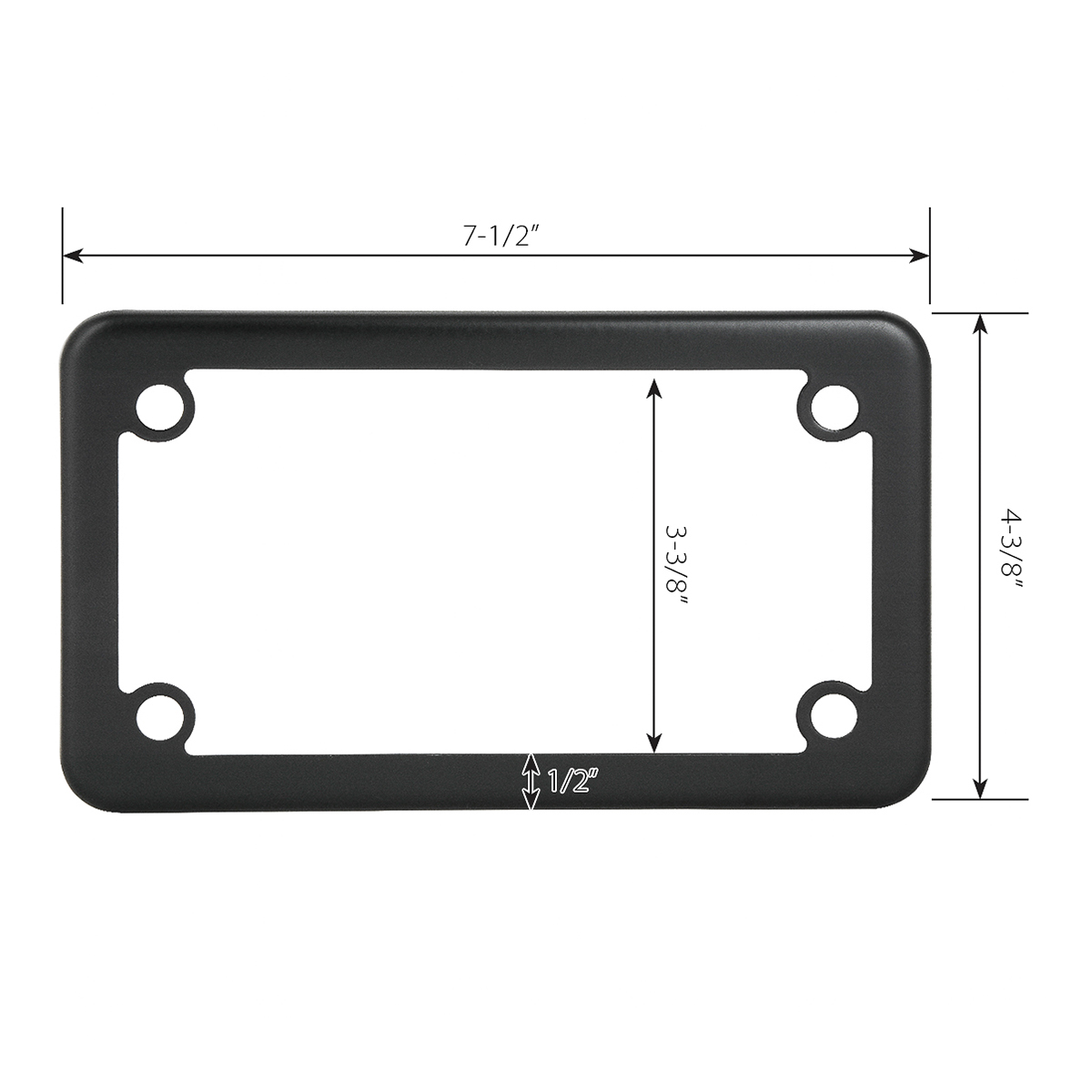 Motorcycle License Plate Frames Grand General Auto