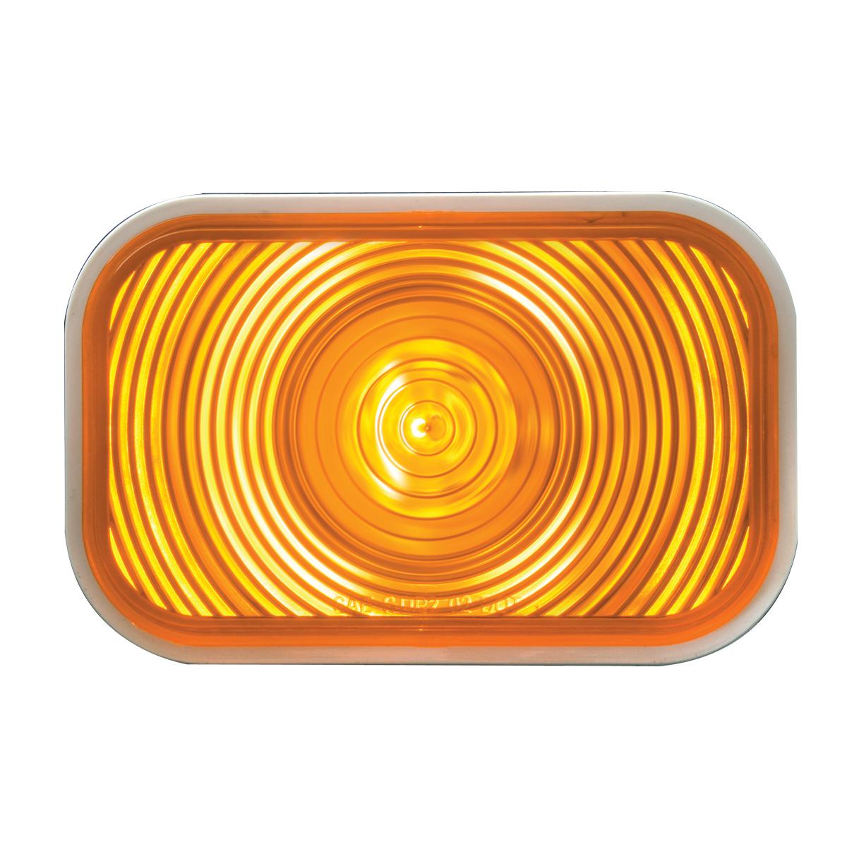 #80771 Rectangular Incandescent Amber/Amber Sealed Light