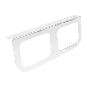 """Stainless Steel Double Light """"L"""" Shape Mounting Bracket with Rectangular Sealed Lights"""