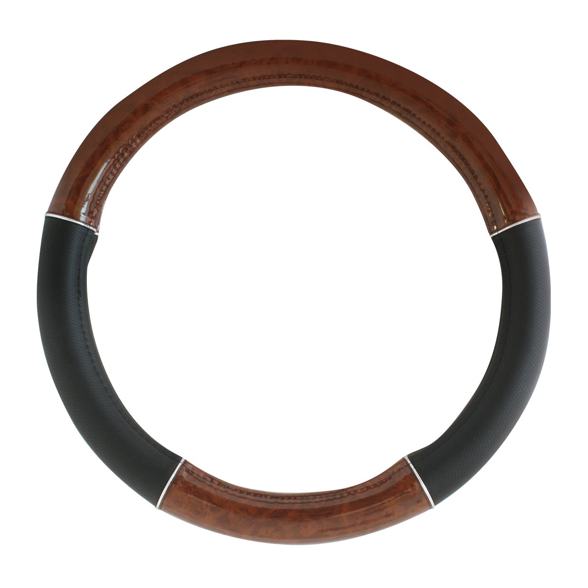 "54007 Heavy Duty 18"" Steering Wheel Covers in Deluxe Wood Grain Series"