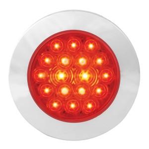 4″ Fleet Flange Mount LED Light with Chrome Twist & Lock Bezel