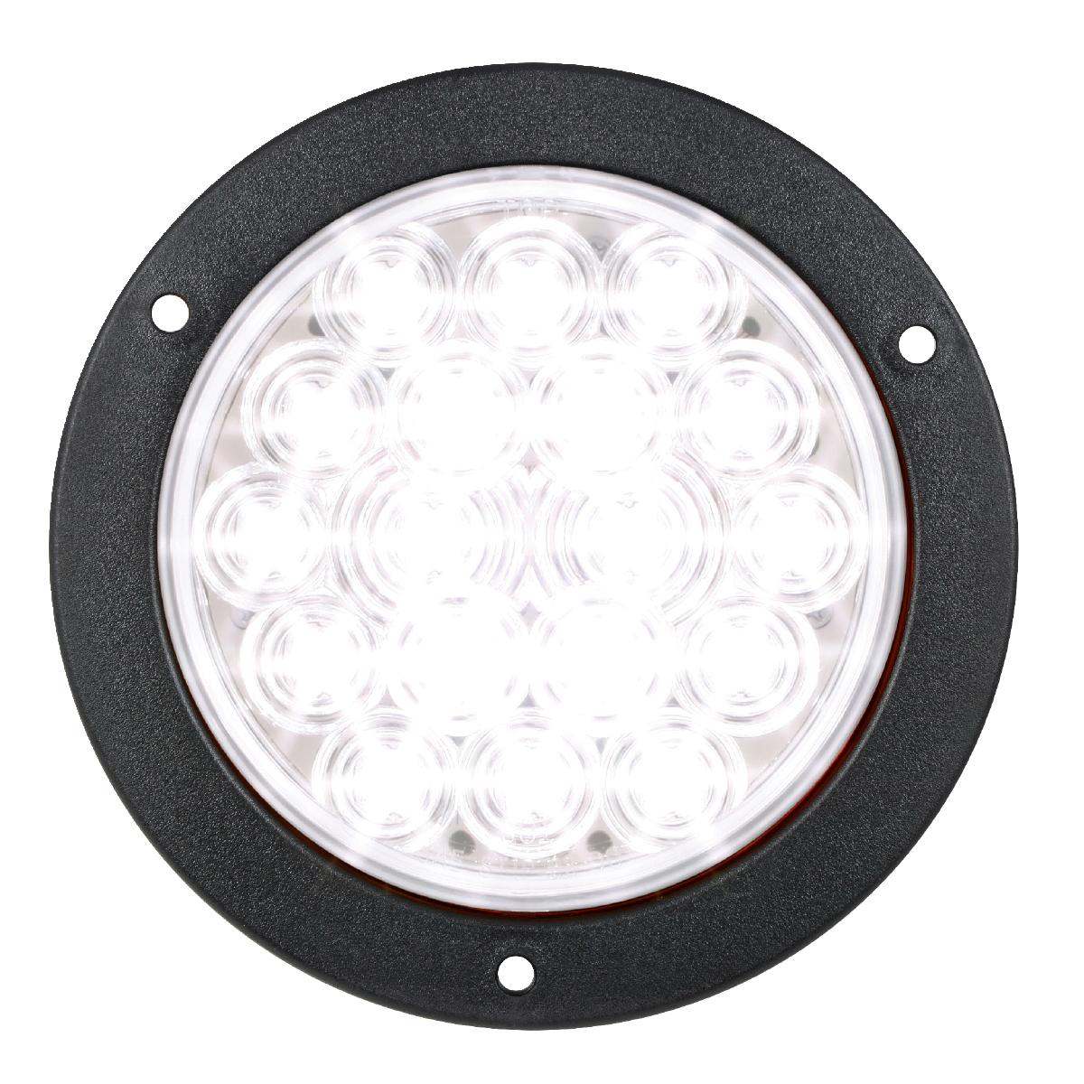 "75914 White/Clear 4"" Fleet LED Light with Black Flange Mount"
