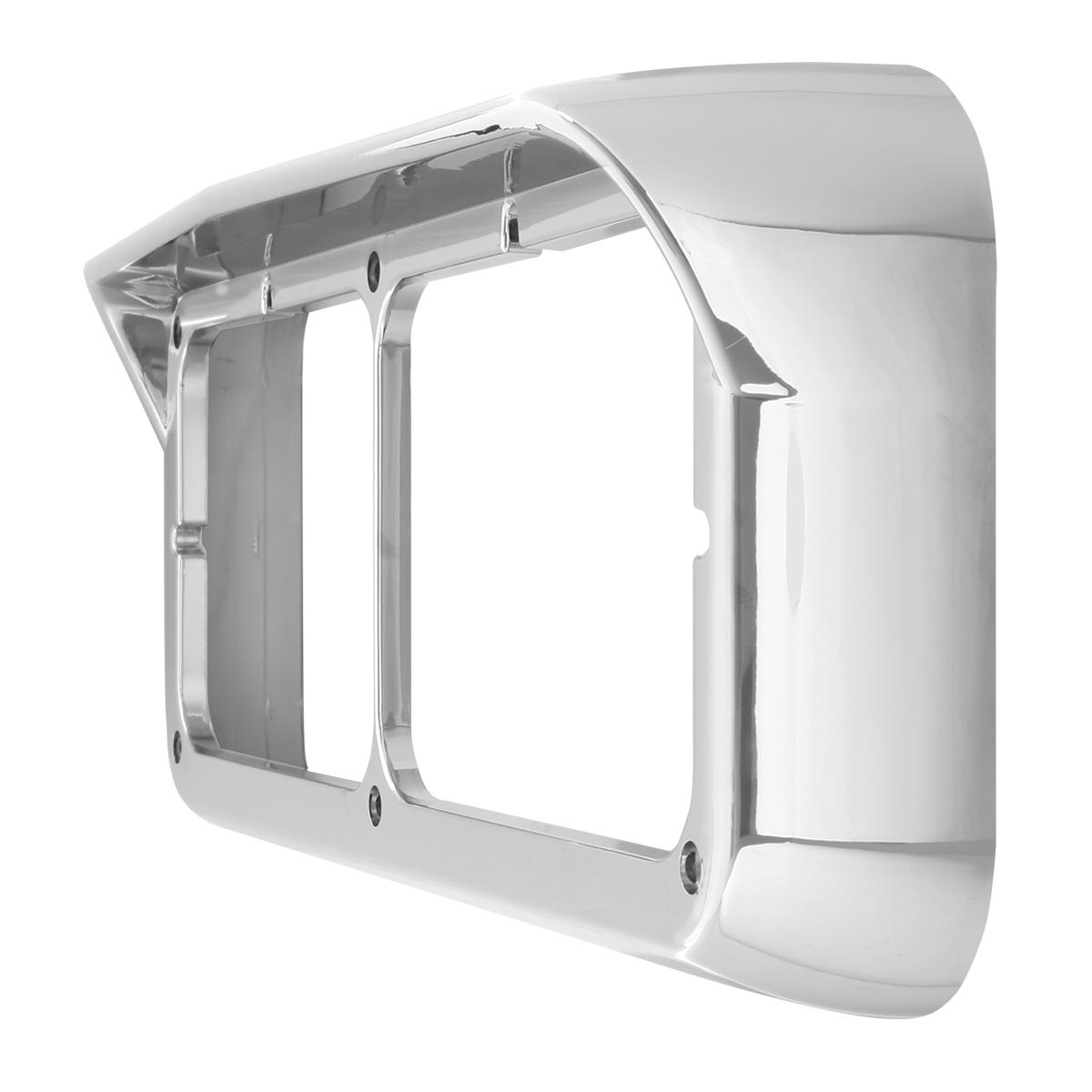 87590 Dual Headlight Bezel w/ Visor for Peterbilt, Kenworth & Freightliner