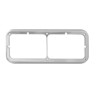 Dual Rectangular Headlight Bezel for Peterbilt, Kenworth & Freightliner