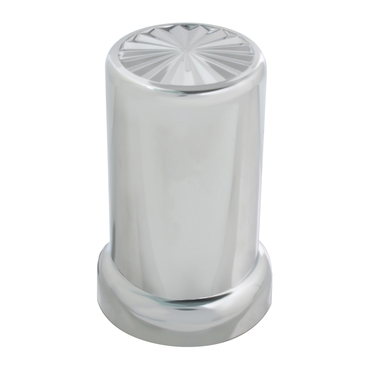 Pin Wheel Chrome Plastic Lug Nut Cover