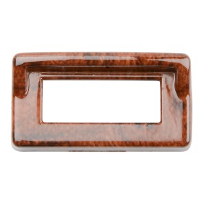 Wood Pattern Switch Label Bezel Cover w/ Visor for Kenworth