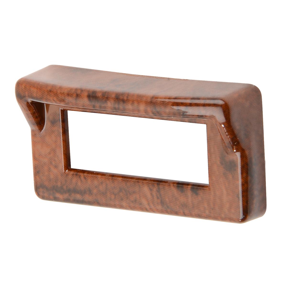 68247 Wood Pattern Switch Label Bezel Cover w/ Visor for Kenworth