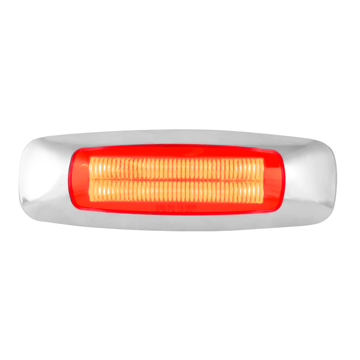 """5"""" Rectangular Red/Red LED Light"""